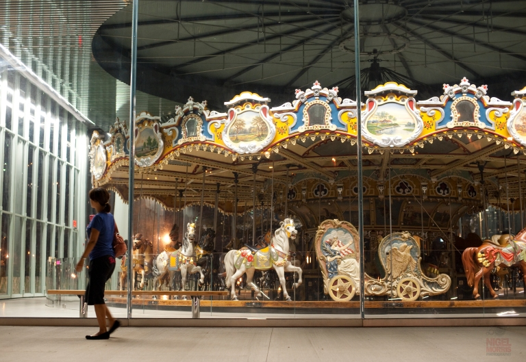 Jane's Carousel at night, shot by Nigel Morris of Nigel Morris Photography