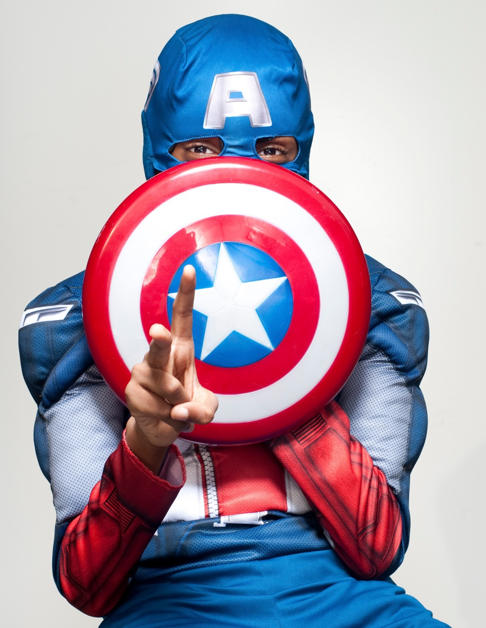 Oldest Nephew. Captain America. Shot by Nigel Morris, of Nigel Morris Photography
